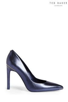 Ted Baker Blue Metallic Court Shoes