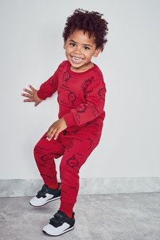 Monster Printed Crew And Joggers Set (3mths-6yrs)