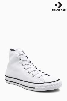 Converse White Shimmer Hi Top