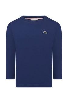 Boys Cotton Blue Long Sleeve T-Shirt