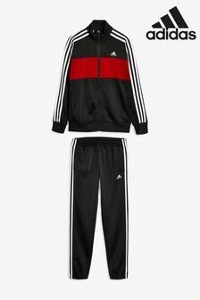 adidas Black/Red Tiberio Tracksuit