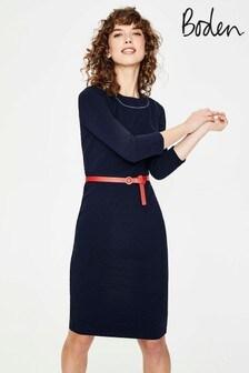 Boden Navy Mia Ottoman Dress