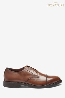 Signature Toe Cap Derby Shoes