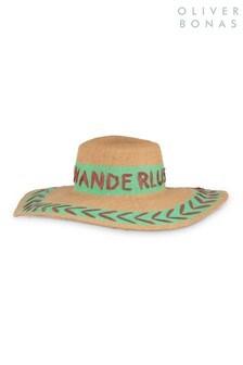 Oliver Bonas Green Wanderlust Floppy Hat