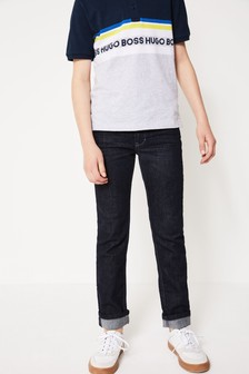 BOSS Slim-Fit Jeans in dunkler Waschung