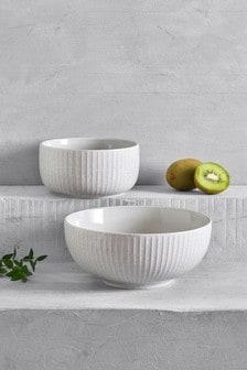 Set of 2 Reactive Serve Bowls