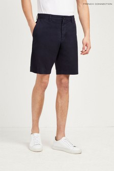 French Connection Blue Machine Stretch Short