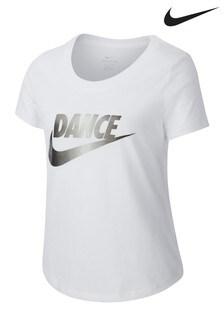 Nike White Dance Slogan T-Shirt