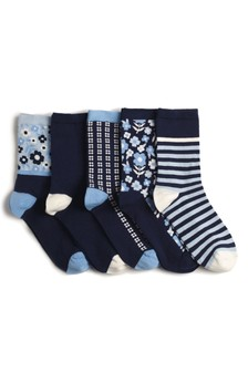 Stripe And Pattern Ankle Socks Five Pack