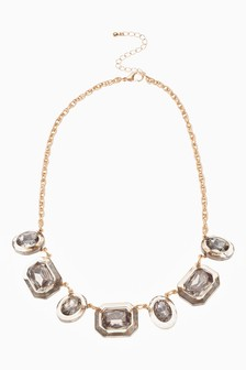 Statement Jewel Effect Necklace