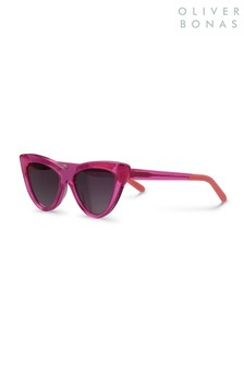 Oliver Bonas Pink New York Cat Eye Sunglasses