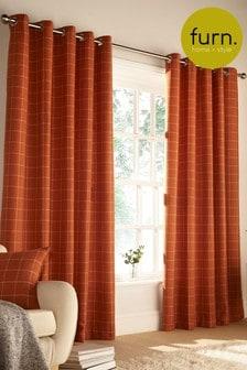 Furn Orange Ellis Curtains