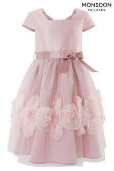 Monsoon Pink Peony Cascade Dress