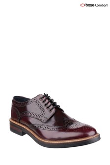 Base London® Red Woburn Hi-Shine Shoes