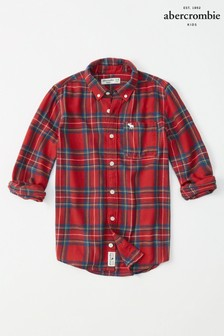 Abercrombie & Fitch Red Flannel Shirt