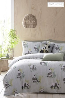 Riva Home Pandas Duvet Cover and Pillowcase Set