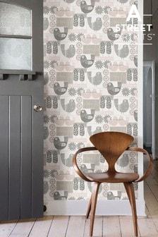 A Street Pink Partridge Wallpaper