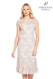 9108208edb77 Ružové čipkované puzdrové šaty Adrianna Papell Emily