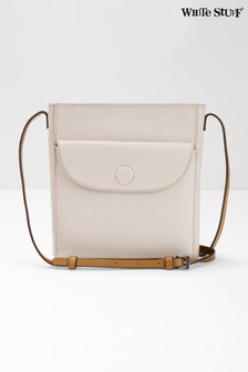 White Stuff White Mimi Leather Cross Body Bag