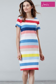 Joules Blue Riviera Long Sleeveless Jersey Dress