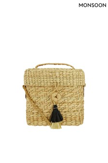 Monsoon Ladies Cream Tara Tassel Binocular Bag