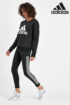 adidas Must Have Black 3 Stripe Leggings