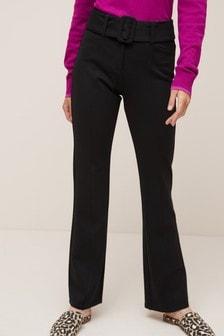 Расклешенные брюки из ткани понте