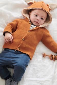 Teplý sveter so zajačími ušami (0 mes. – 2 rok.)