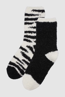Animal Pattern Bed Socks Two Pack