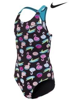 Nike Black Printed Swimsuit
