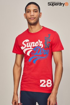 Superdry Red Swoosh T-Shirt