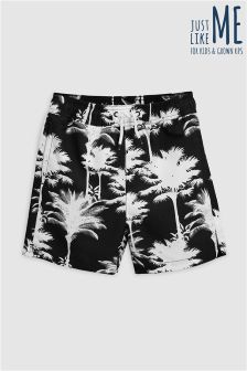 Palm Print Shorts (3-16yrs)