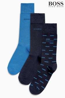 BOSS Blue Socks Three Pack