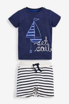 Set Sail T-Shirt And Shorts Set (3mths-7yrs)