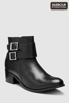 Barbour® International Black Inglewood Ankle Boot
