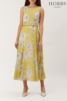 Hobbs Yellow Carly Dress