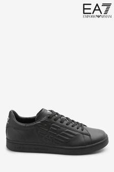 Emporio Armani EA7 Black Eagle Leather Trainers