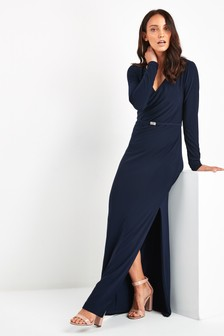 Lauren Ralph Lauren® Navy Lilyanna Wrap Evening Dress