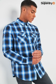 Superdry Blue Washbasket Check Shirt