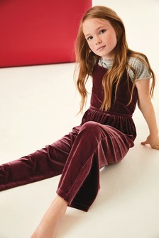 Velour Playsuit (3-16yrs)