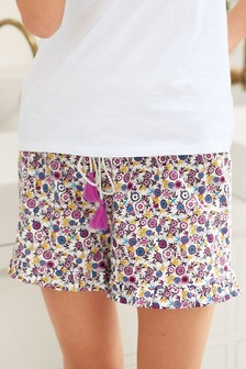 Woven Cotton Pyjama Shorts