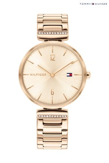Tommy Hilfiger Carnation Gold And Crystal Watch