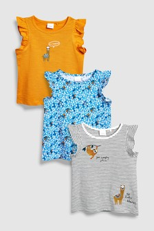 Llama Vests Three Pack (3mths-6yrs)