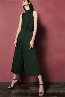 Ted Baker Naomay Khaki Scallop Jumpsuit
