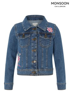Monsoon Blue Farrah Flamingo Denim Jacket