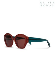 Oliver Bonas Brown Copenhagen Sunglasses