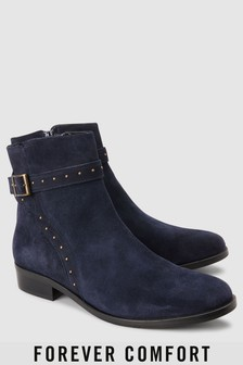 Forever Comfort Suede Stud Ankle Boots