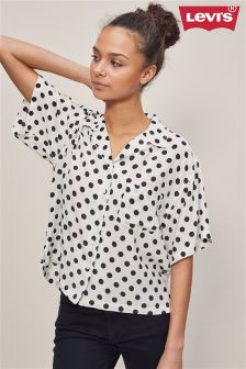 Levi's® White Polka Cloud Dancer Mieko Shirt