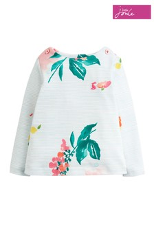 Joules Pink Harbour Jersey Printed Top