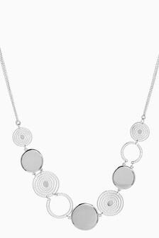 Circular Cutout Detail Short Necklace